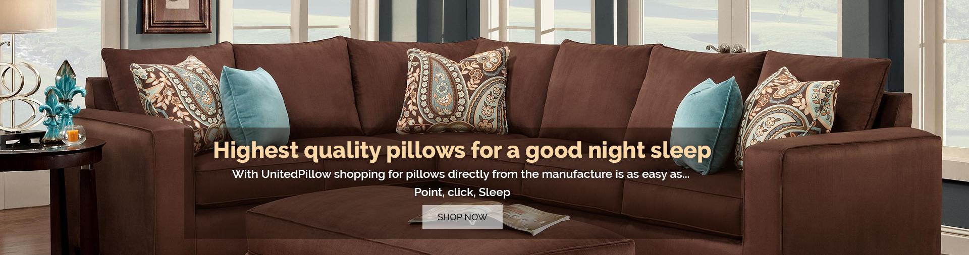 unitedpillows usa made pillows