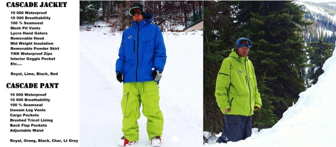 Cascade Jacket and pant