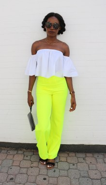 Lined high waist pant with back zip