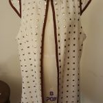Custom design and sewn long vest for a private client.