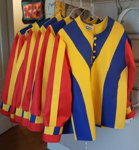 Swiss Guard Costumes, patttern drafted, graded into 2 sizes, production of 6