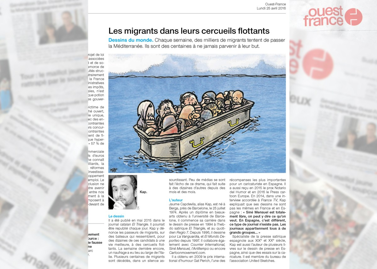 Jaume Capdevila - KAP publishes in Ouest-France, French Biggest Newspaper
