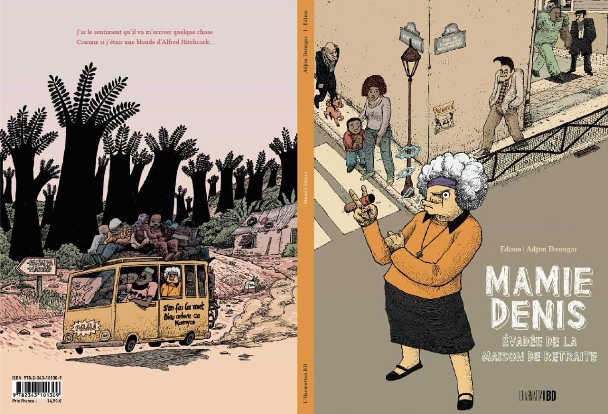 """Mamie denis"", Premier livre BD de Adjim Danngar - HarmattanBD"