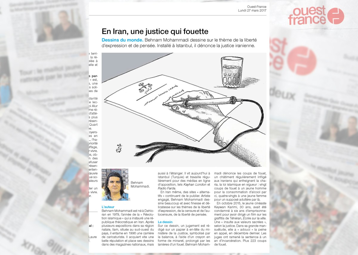 """Dessins du monde"" a unique International project with Ouest-France the biggest French Newspaper"