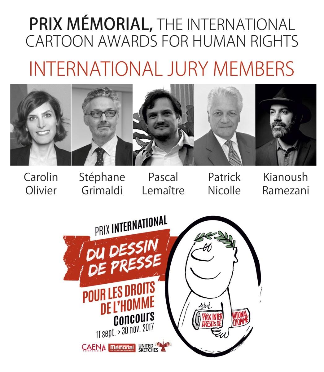 Jury of Prix Mémorial : The International Cartoon Awards for Human Rights