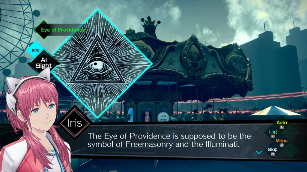 AI: The Somnium Files indulges in the Illuminati and other conspiracies.
