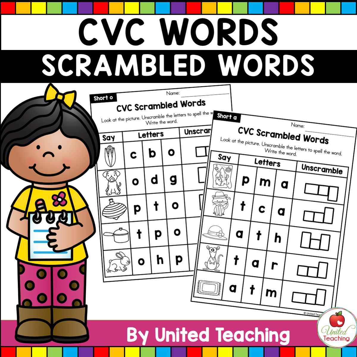 Cvc Words Scrambled Cvc Words