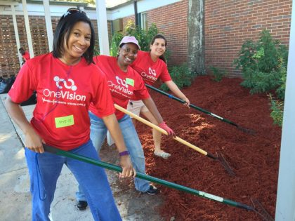 Johnson & Johnson Vision Care Inc. employees gave Lonestar Elementary School a much needed face lift in March 2016.