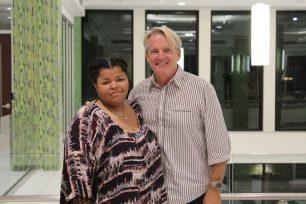 Eunique Jackson and Gary Brose
