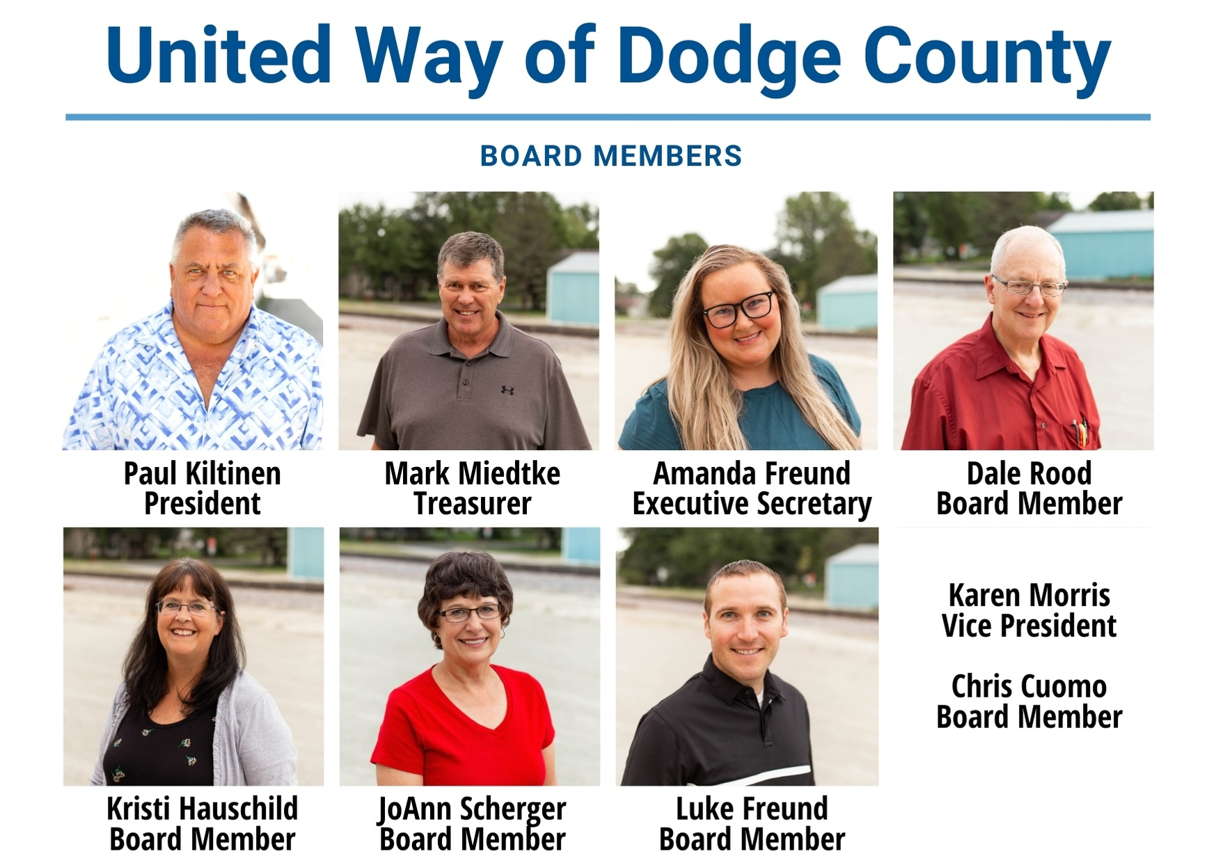 United Way of Dodge County board members