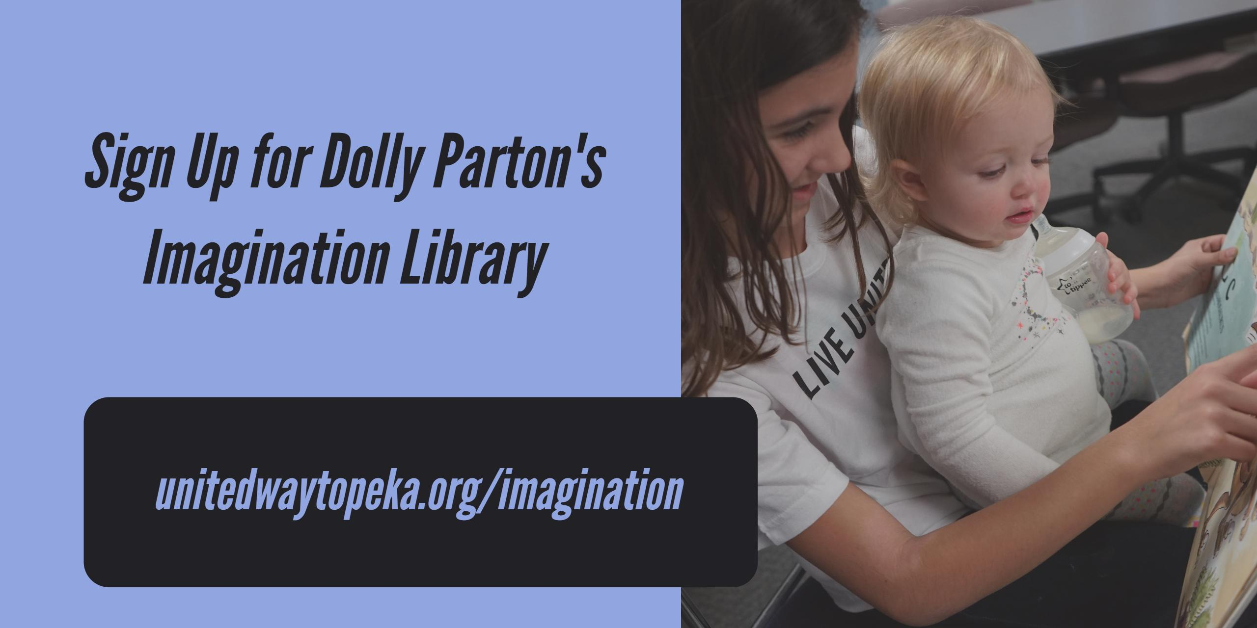 Sign up for Dolly Parton's Imagination Library