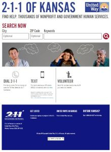 Screenshot of 211 web page