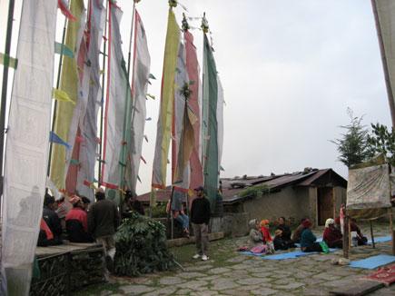 Hindu Festival Dashain Celebrations in a Buddhist Monastery