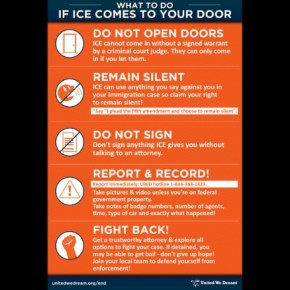 What immigrant advocates want you to do if ICE agents come to your door