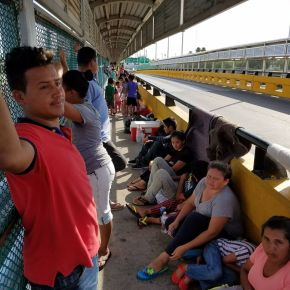 Caught in limbo, Central American asylum-seekers are left waiting on a bridge over the Rio Grande