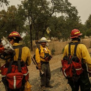 In a conservative Northern California county, a team of Mexican immigrants helps battle the Carr fire