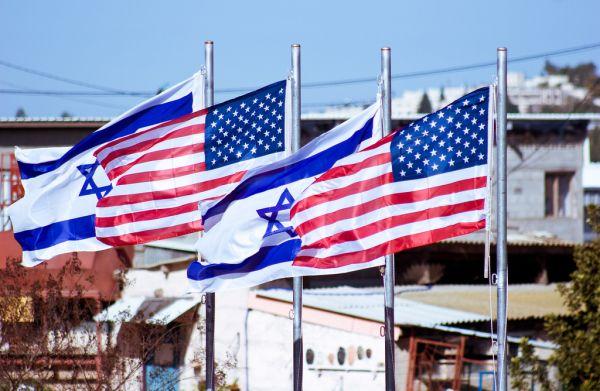 israeli-american-flags