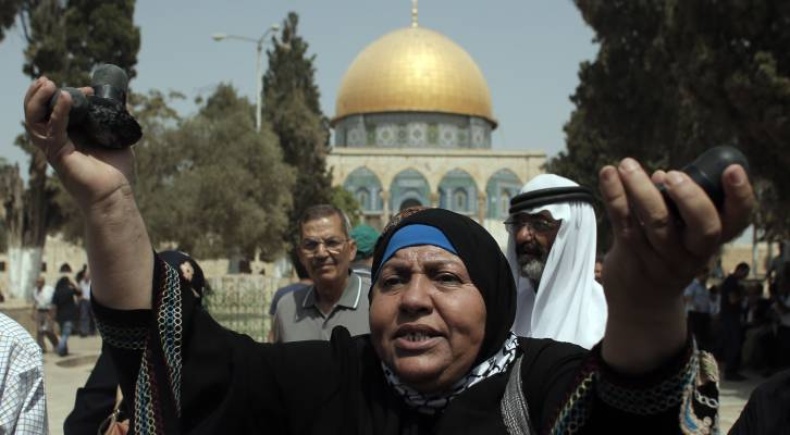 Palestinian riots Temple Mount