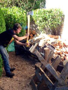 Tyler chopping