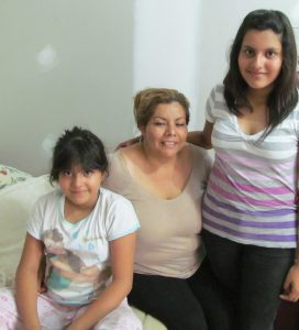 Janiera with her 2 daughters Gaby and Rosio.  Please continue praying for healing for little Rosio from her bronchitis as the family currently doesn't have the money for the medication.