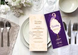 Professional wedding Menu card design