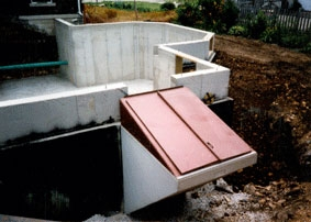 Basement Entry – Unit Step Company   Exterior Basement Entrance Stairs   Garage   Victorian Era   Stone Wall   Access   Finished