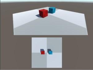 画面を上下に分割した場合の例