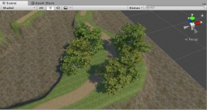 Terrainで木を生やす