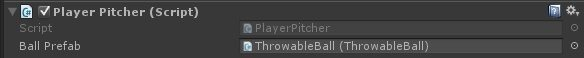 Pitching - PlayerPitcher Script