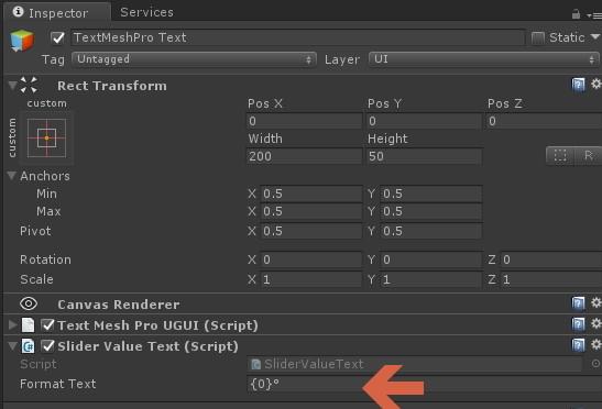 Unity Slider Label Text - Unity3D College