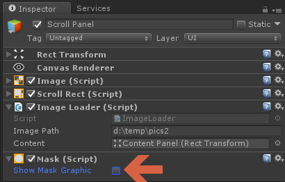 Unity UGUI ScrollRect - Creating a dynamic image loading carousel