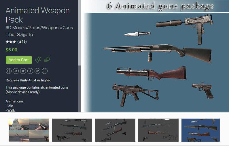 Animated Weapon Pack