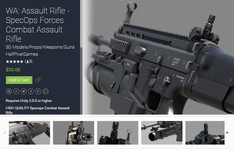 WA Assault Rifle – SpecOps Forces Combat Assault Rifle