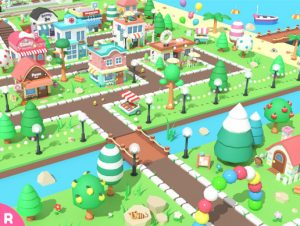 Cartoon Town – Low Poly Assets