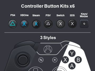 Controller Overlays & Button Kits (3 styles) x7 controllers +keyboard/mouse