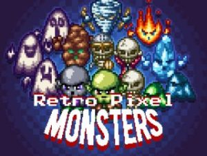 Retro Pixel Monsters