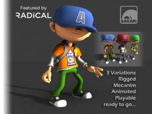 Cartoon B-Boys with Animations