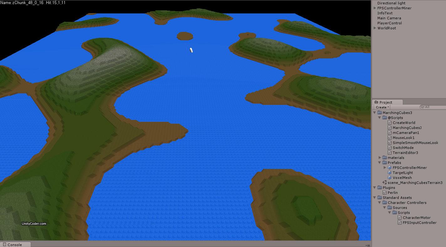 Marching Cubes Voxel Terrain « Unity Coding – Unity3D