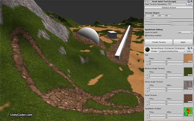 Mesh Terrain Texturing/SplatMap Tool (wip) | Unity Coding
