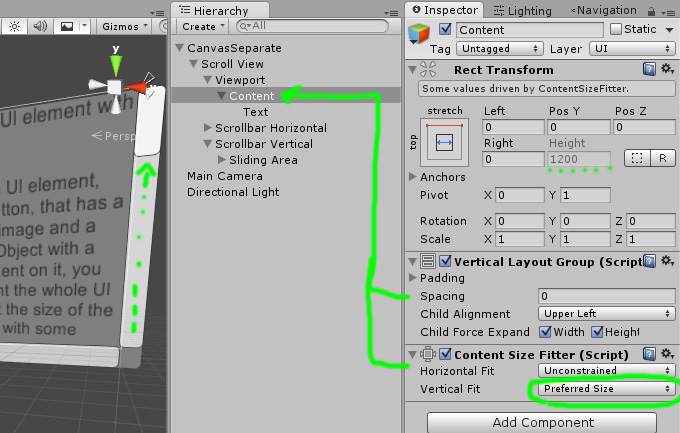 UI Scroll View automatic Content height « Unity Coding – Unity3D