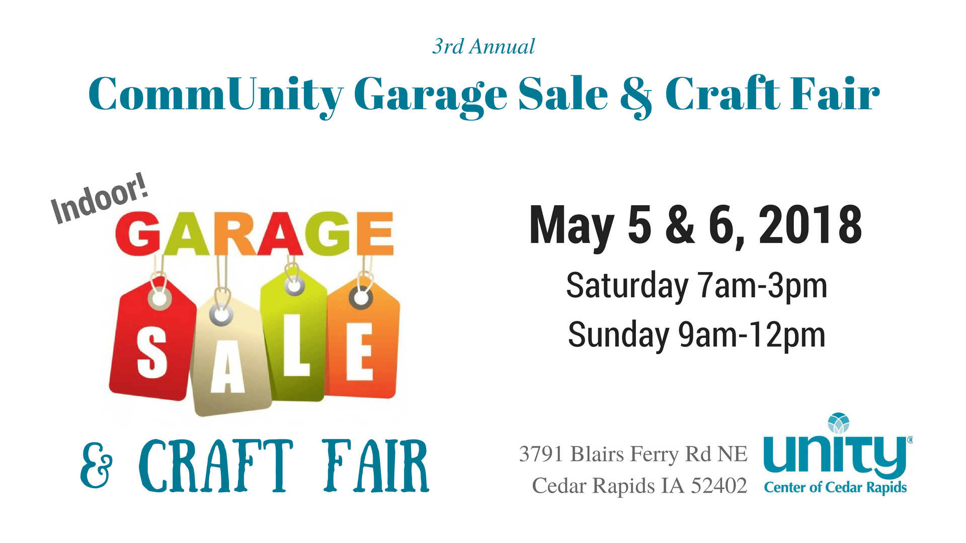 3rd Annual CommUnity Garage Sale & Craft Fair