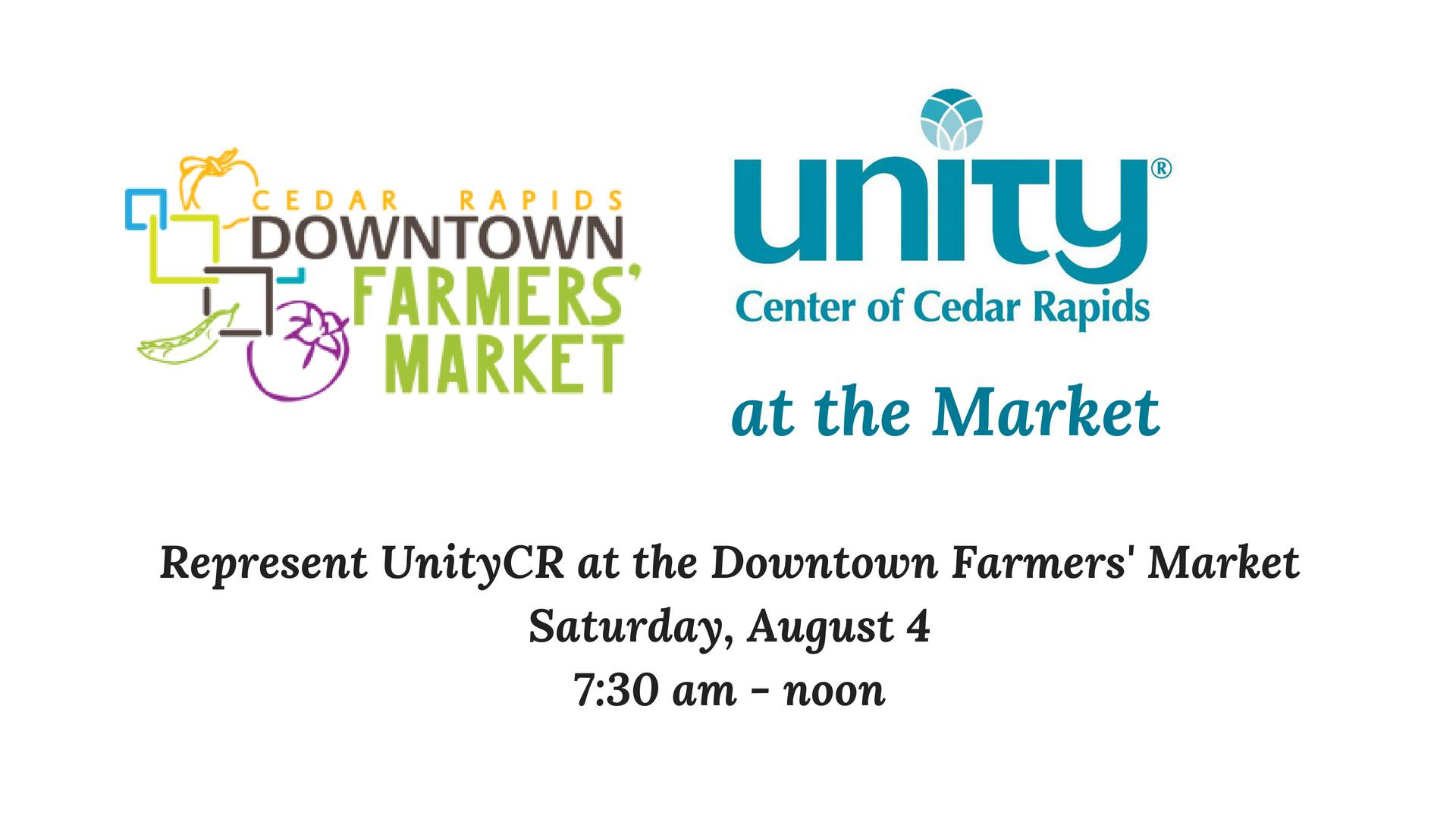 UnityCR at the Downtown Farmers' Market