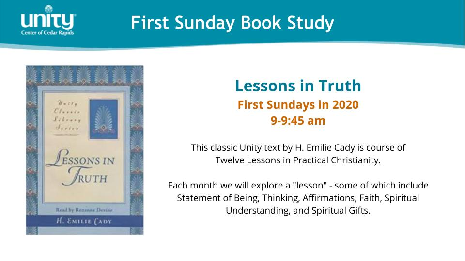 First Sunday Book Study - Lessons in Truth