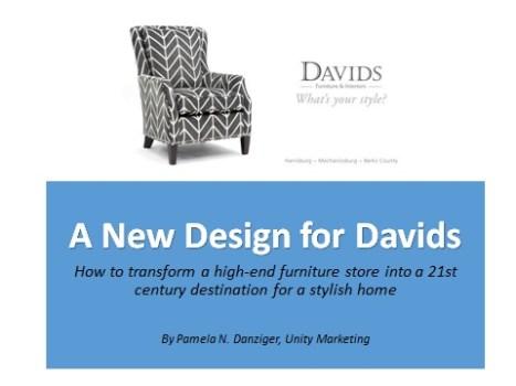 New Design for Davids Furniture & Interiors