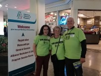 Our volunteers at the American Alliance of Museums with 5000 Museum directors