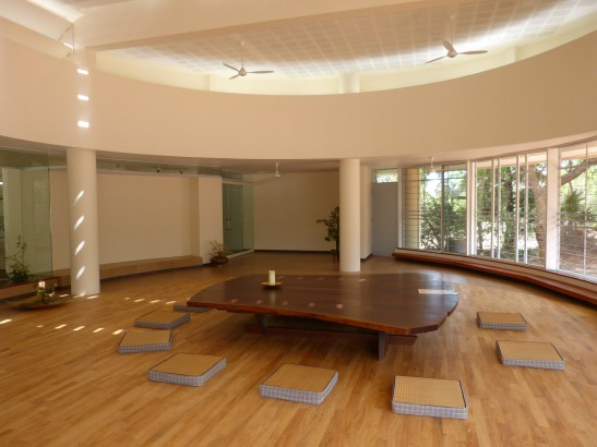 Peace Table at its permanent home: The Hall of Peace at Unity pavilion