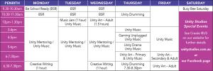 F820 Unity Term 1 2020 Timetable LR