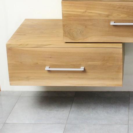 meuble suspendu sous vasque en teck 70 cm 18 760
