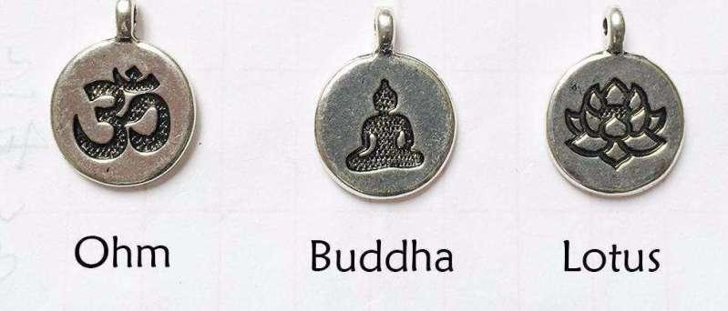 Bracelet Mala 108 perles en amazonite naturelle Lotus - L'univers-karma