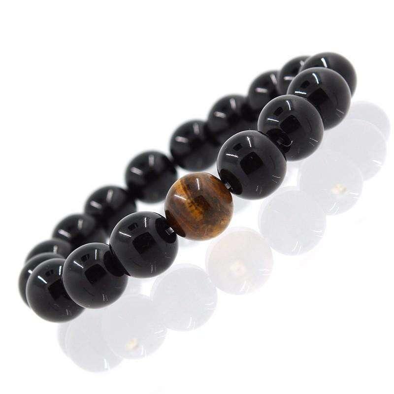 Bracelet de Maitrise en Onyx et Œil de Tigre - L'univers-karma